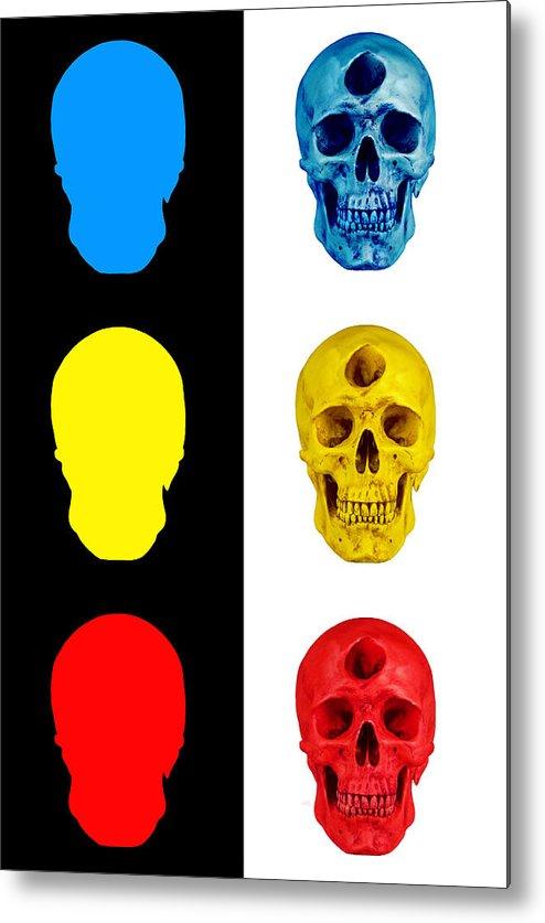 Skull Metal Print featuring the digital art Primary by Noah Zark