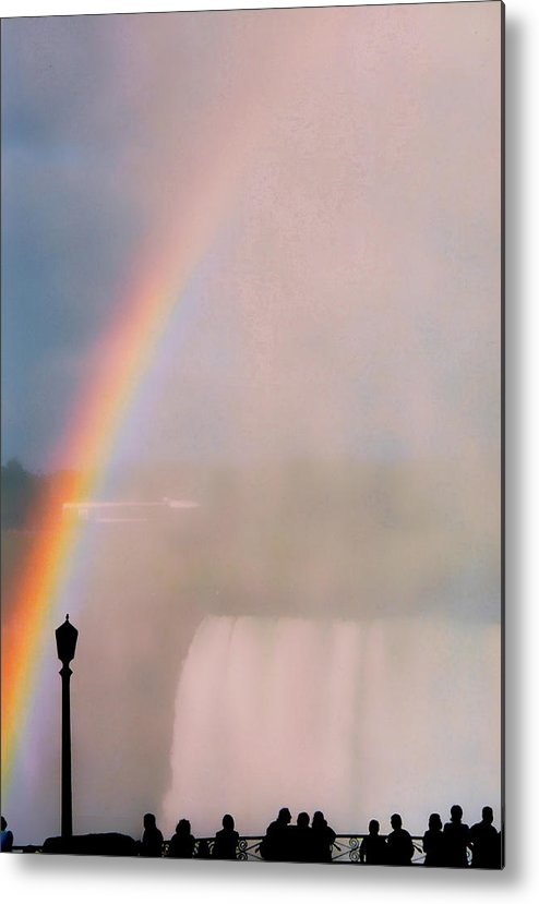 Rainbow Metal Print featuring the photograph Rainbow Falls by Pharris Art