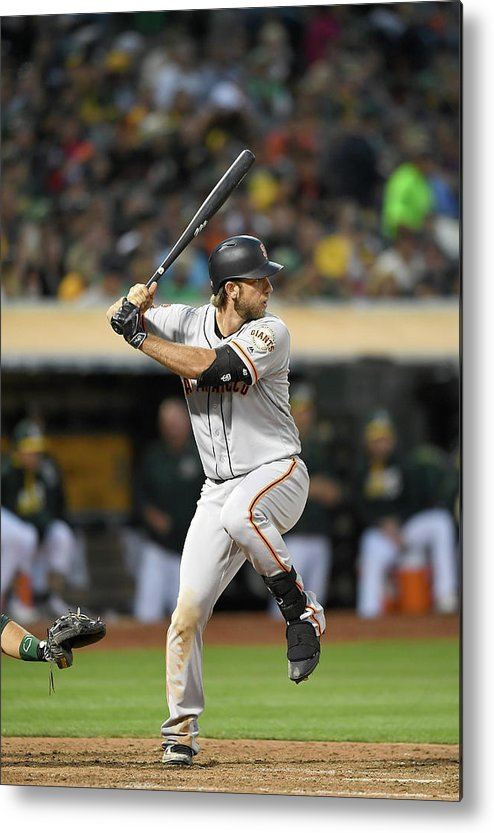 People Metal Print featuring the photograph San Francisco Giants V Oakland Athletics by Thearon W. Henderson
