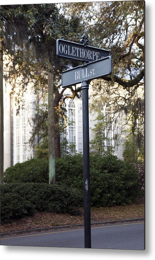 Bull Metal Print featuring the photograph Street Signs by Karen Cowled