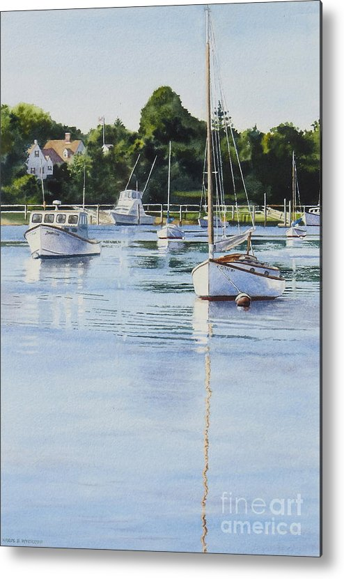 Sailboats Metal Print featuring the painting Summer's Eve by Karol Wyckoff