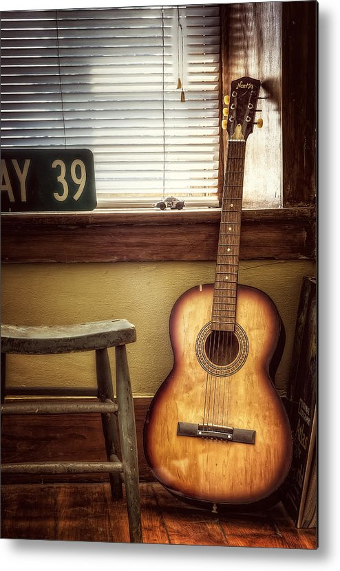 Guitar Metal Print featuring the photograph This Old Guitar by Scott Norris