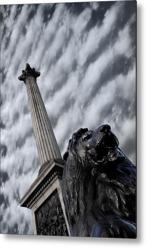 Trafalgar Square Metal Print featuring the photograph Trafalgar Square London by Mark Rogan