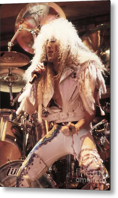 Photos Metal Print featuring the photograph Twisted Sister - Dee Snider by Concert Photos