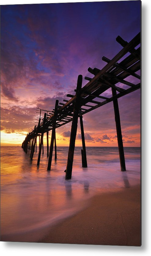 Alone Metal Print featuring the photograph Wood Bridge by Teerapat Pattanasoponpong