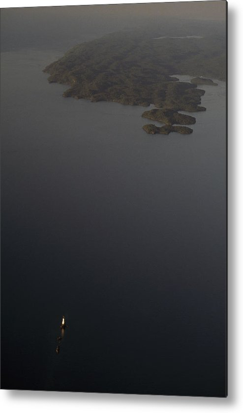 Outdoors Metal Print featuring the photograph Aerial View Of Rock Of Ages Lighthouse by Phil Schermeister