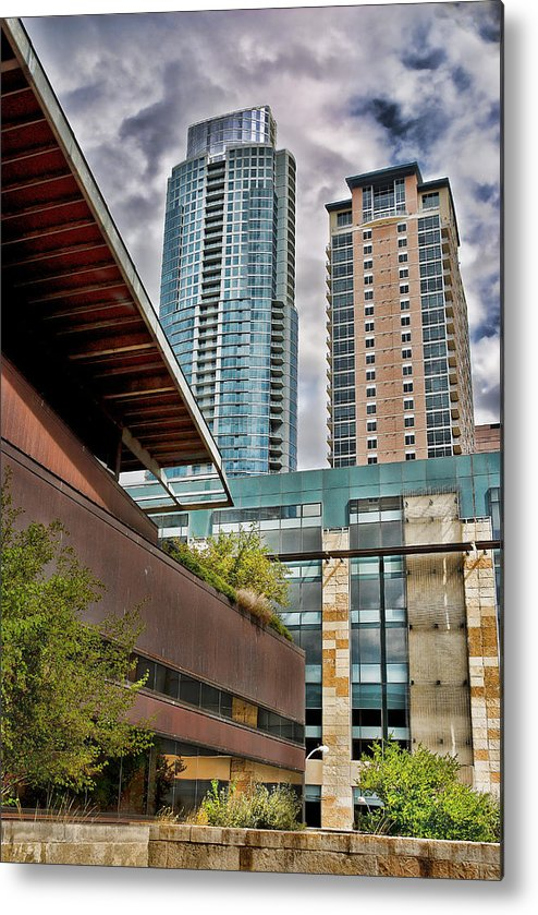 Austin Metal Print featuring the photograph Austin Condo Towers - Hdr by David Thompson