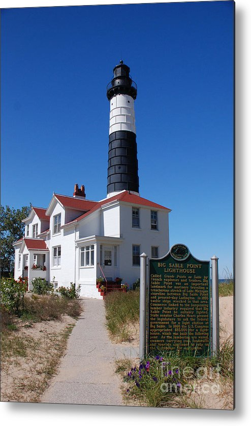 Lighthouse Metal Print featuring the photograph Big Sable Point Lighthouse by Grace Grogan