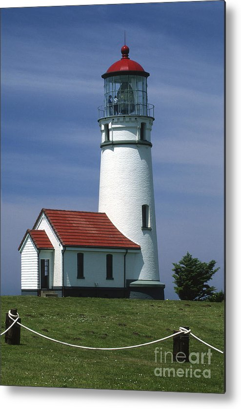 Lighthouse Metal Print featuring the photograph Cape Blanco Lighthouse by Sandra Bronstein