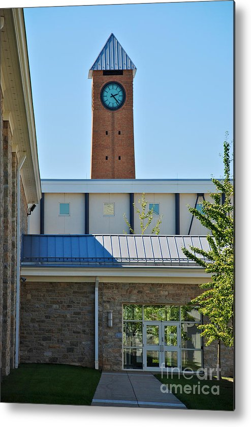 Milton Hershey School Metal Print featuring the photograph Clock Tower by Mark Dodd