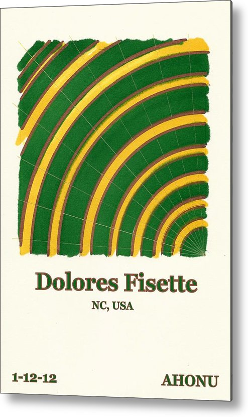 Ahonu Metal Print featuring the painting Dolores Fisette by Ahonu