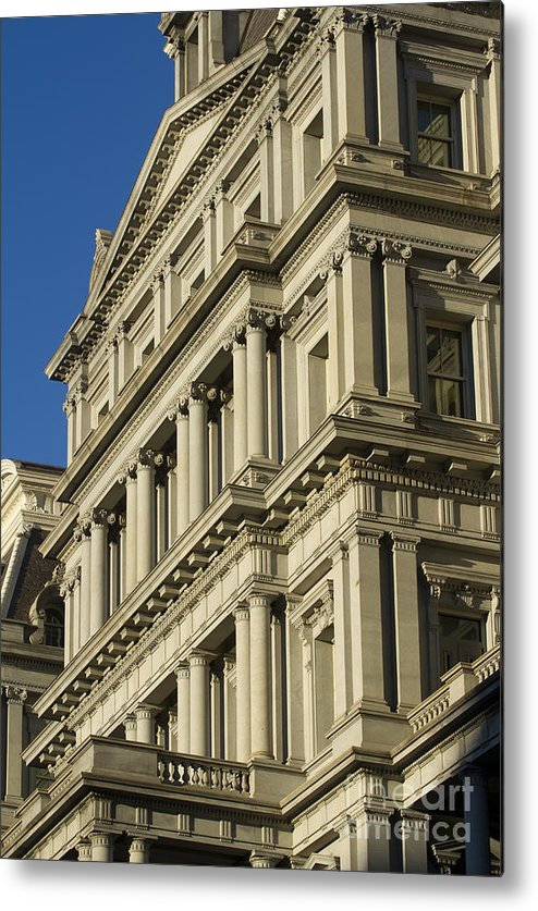 Eisenhower Executive Office Building Washington Dc Metal Print featuring the photograph Eisenhower Executive Office Building Washington Dc by Dustin K Ryan