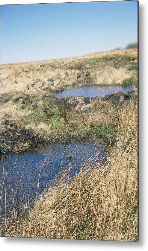 Pool Metal Print featuring the photograph Exmoor Blanket Bog by David Aubrey
