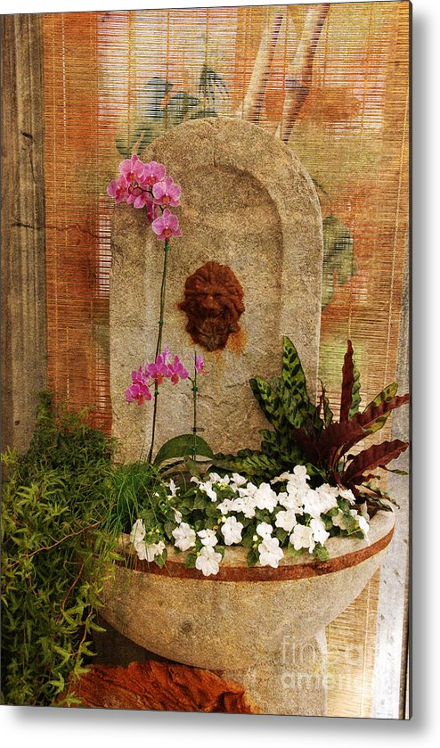 Flower Metal Print featuring the photograph Garden Deco by Susanne Van Hulst