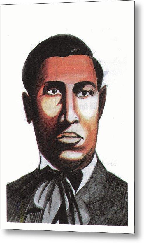 Portraits Metal Print featuring the painting Garrett Morgan by Emmanuel Baliyanga