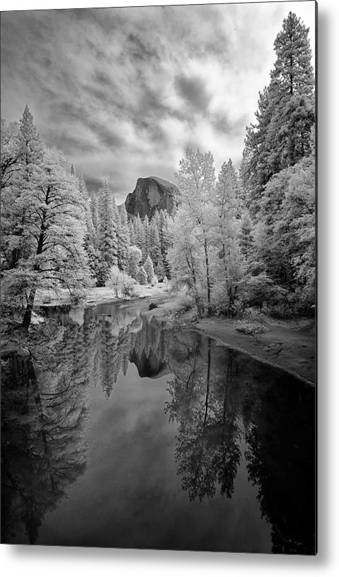 Vertical Metal Print featuring the photograph Half Dome by LiorDrZ© Photography