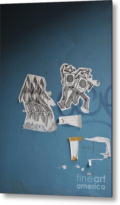 Robots Metal Print featuring the photograph International Robots by Jen Bodendorfer