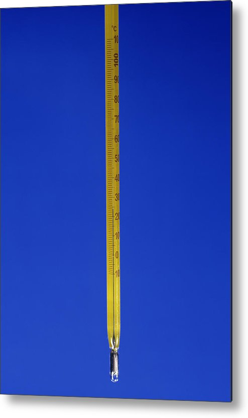 Equipment Metal Print featuring the photograph Mercury Thermometer by Andrew Lambert Photography
