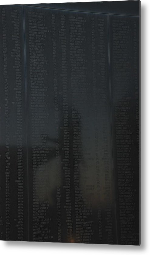 War Metal Print featuring the photograph New Jersey Korean War Memorial Reflection by Richard Bryce and Family
