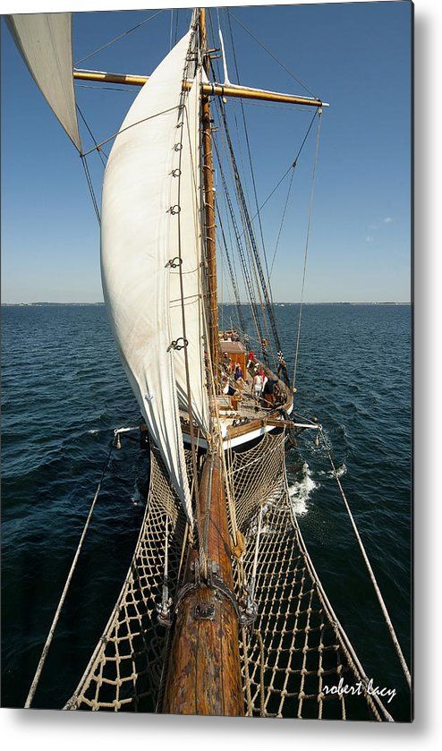 Tall Ships Metal Print featuring the photograph Riding The Breeze by Robert Lacy