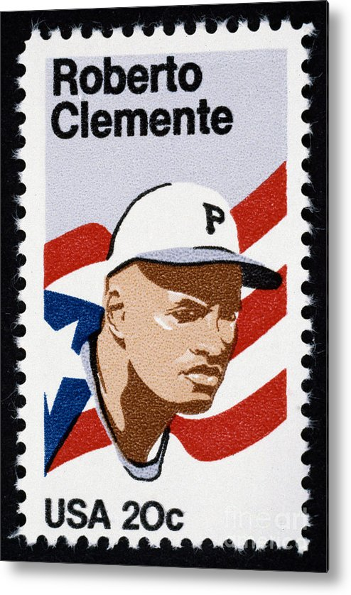 1984 Metal Print featuring the photograph Roberto Clemente by Granger