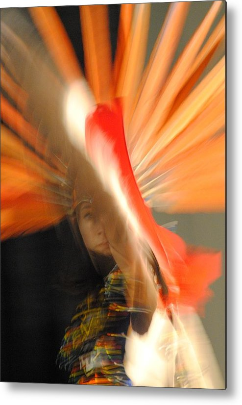 Aztec Dancer Metal Print featuring the photograph Spirit Dance 2 by Paulina Roybal
