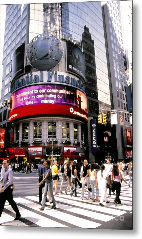 Nyc Metal Print featuring the photograph Times Square Corner by Linda Parker