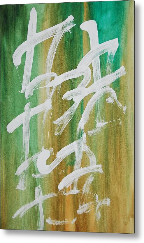 Chinese Metal Print featuring the painting Chinese Numbers by Lauren Luna