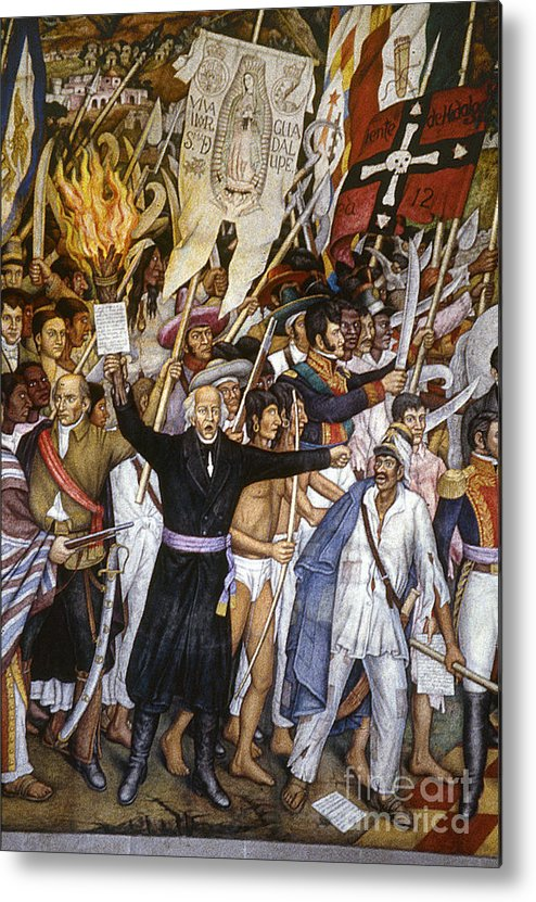 1810 Metal Print featuring the photograph Mexico: 1810 Revolution by Granger