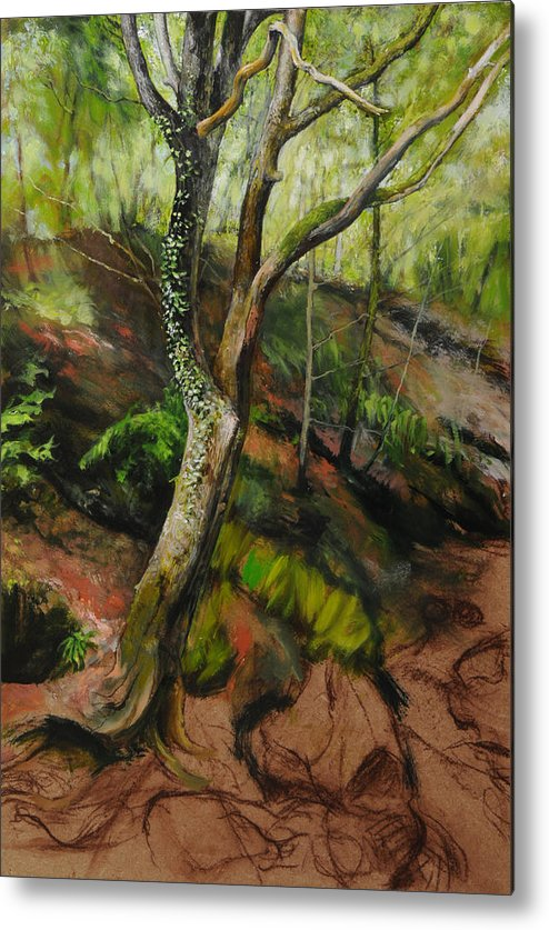 Landscape Metal Print featuring the painting Sketch Of A Treetrunk by Harry Robertson