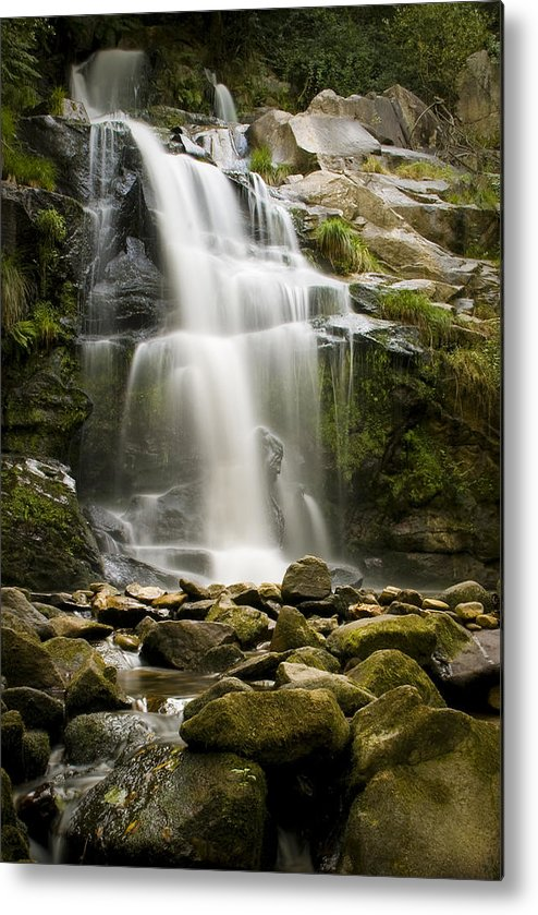 Attraction Metal Print featuring the photograph Waterfall by Homydesign