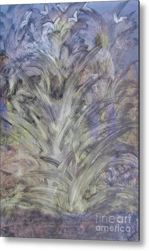 Metal Print featuring the painting Cactus by Bozena Simeth