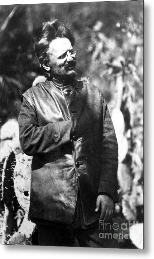 1930s Metal Print featuring the photograph Leon Trotsky (1879-1940) by Granger