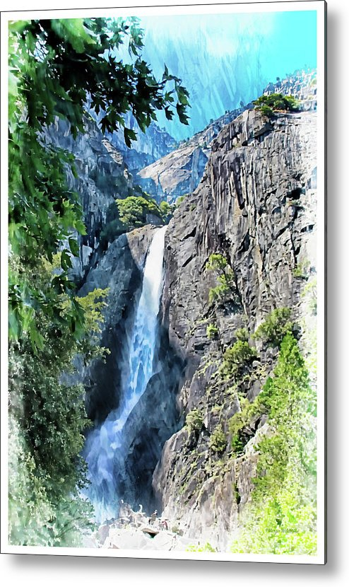 Yosemite Metal Print featuring the photograph Lower Yosemite Falls by Margie Wildblood