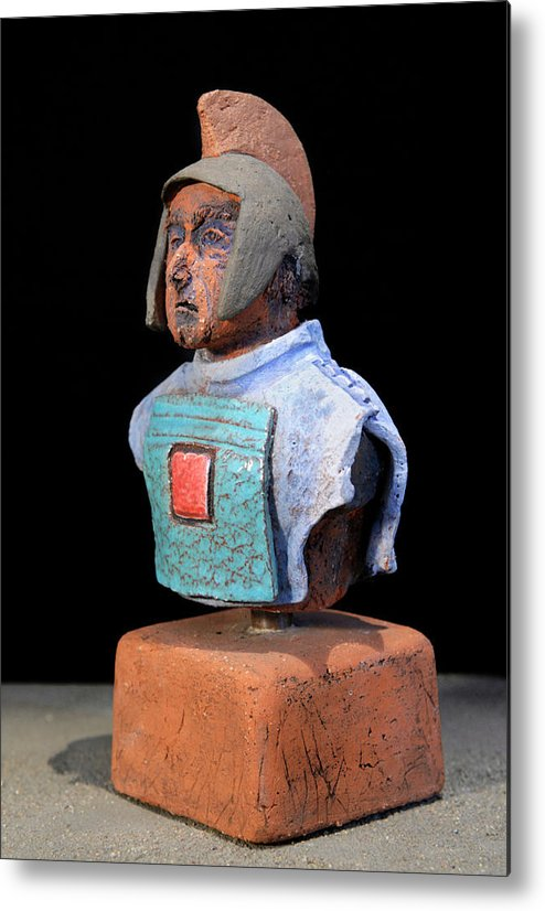 Warriors Metal Print featuring the sculpture Roman Legionaire - Warrior - Ancient Rome - Roemer - Romeinen - Antichi Romani - Romains - Romarere by Urft Valley Art