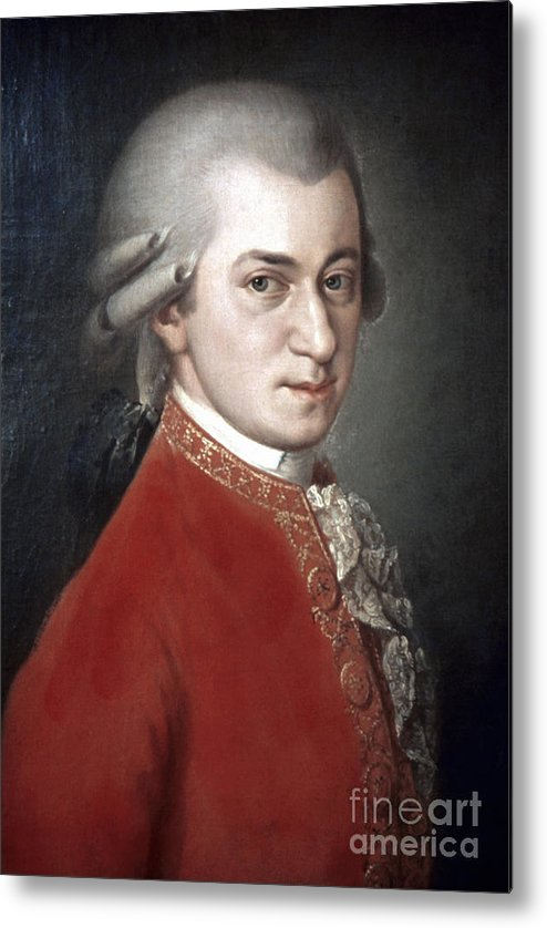 18th Century Metal Print featuring the photograph Wolfgang Amadeus Mozart by Granger
