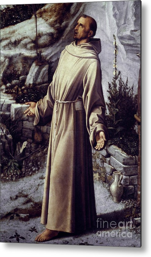 12th Century Metal Print featuring the painting St. Francis Of Assisi by Granger