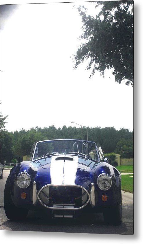 Speed Metal Print featuring the photograph 427 Cobra Side Oiler by Margaret Fortunato