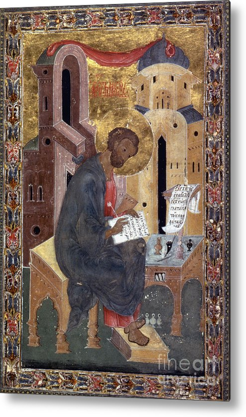 1596 Metal Print featuring the painting Saint Mark by Granger