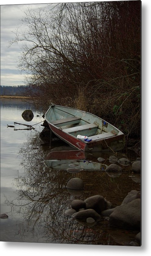 Abandoned Metal Print featuring the photograph Abandoned Boat by Cindy Johnston