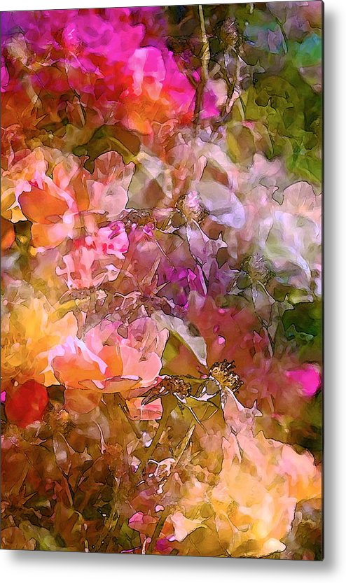 Abstract Metal Print featuring the photograph Abstract 276 by Pamela Cooper