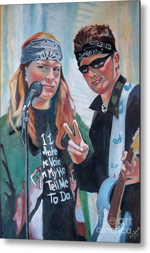 Music Metal Print featuring the painting After The Gig by Gail Zavala