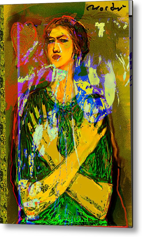 Portrait Metal Print featuring the painting Alter Ego 2 by Noredin Morgan