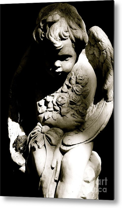 Statue Metal Print featuring the photograph Angel Baby by Lori Leigh