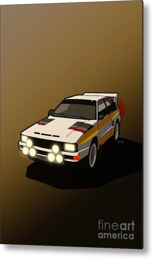 Car Metal Print featuring the digital art Audi Sport Quattro Ur-quattro Rally Poster by Monkey Crisis On Mars
