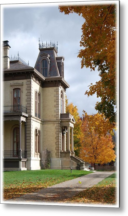 David Davis Mansion Metal Print featuring the photograph Autumn Glory by Abraham Adams Photography