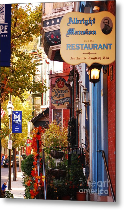 Landscape Metal Print featuring the photograph Autumn In Jim Thorpe by Lori Tambakis