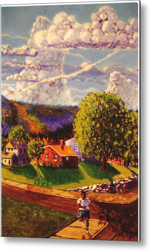 Landscape Metal Print featuring the painting Beautiful Day by Jonathan Carter