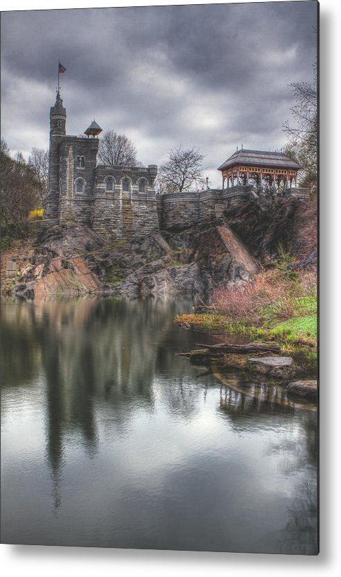 Belvedere Castle Metal Print featuring the photograph Belvedere Castle Vertical by Ariane Moshayedi