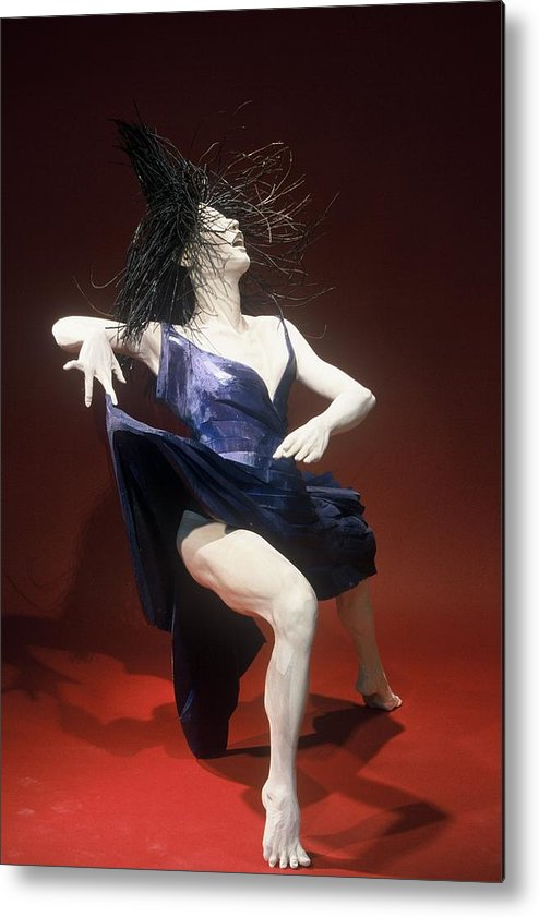 Dance Metal Print featuring the sculpture Blue Dancer Right View by Gordon Becker